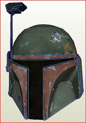 STAR WARS BOBA FETT HELMET (colour) DIY KIT +  CPT USA KIT COSPLAY CINEMA paper