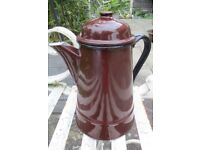 Vintage Enamel Coffee Pot Great for VW Camper Day Van Camping Festivals