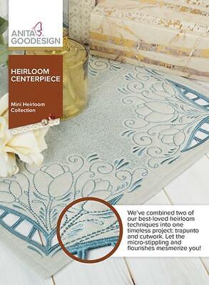 Heirloom Centerpiece Anita Goodesign Embroidery Machine Design CD NEW
