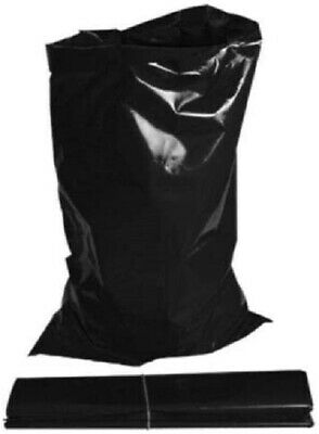 100 x Extra Heavy Duty Black Rubble Bags Builders Sacks 20