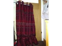 Eyelet curtains- W 168 cm X D 137 cm (66 inches X 54 inches) approx