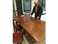 French Oak dining table and chairs-from John Lewis