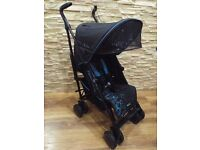 Silver cross black/blue buggy