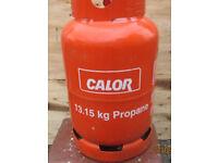 Empty 13.15 kg Red calor gas bottle