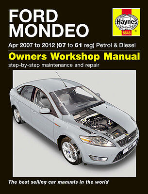 HAYNES WORKSHOP REPAIR OWNERS MANUAL FORD MONDEO PETROL & DIESEL 07 - 12 (07-61)