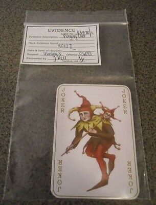 Batman Begins replica Joker evidence card kit
