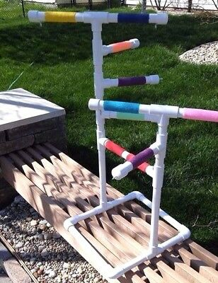 "Custom 3/4"" PVC Parrot Perch Fun GymStand **FREE SHIPPING**Birds Love Them**"