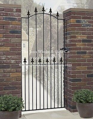 SAXON TALL SINGLE GARDEN GATE 1m OPENING 2m TALL BESPOKE MADE TO ORDER IRONWORK