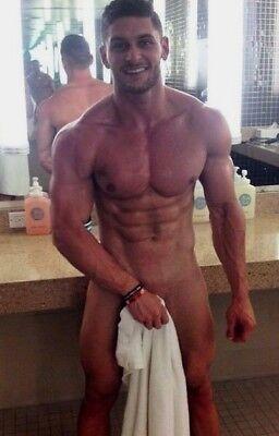 Shirtless Male Muscular Hunk Locker Room Jock in Towel Beefcake PHOTO 4X6 F393