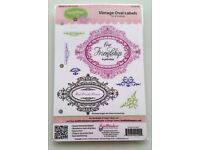 Justrite Vintage Oval Labels stamps NEW/stamping/papercrafting/card making/scrapbooking