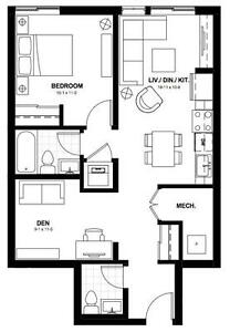 1 bedroom+den, walking distance from WLU, May-August 2017 sub