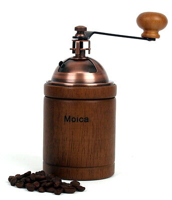 MOICA Manual Coffee Grinder Coffee Mill for Three Cups Wood Iron Made in Taiwan