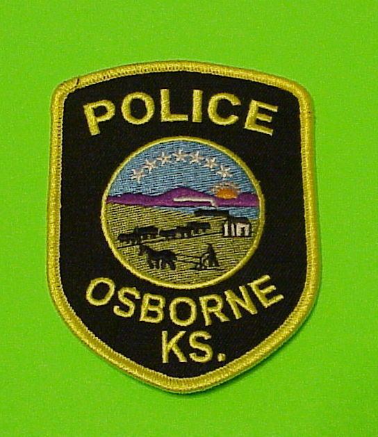 OSBORNE  KANSAS  KS  POLICE DEPT. PATCH  FREE SHIPPING!!!
