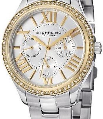 Stuhrling Original Womens 391LS04 2 Tone Bracelet Watch NWT / FREE SHIPPING