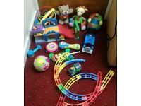 Bundle of electronic preschool baby toys vtech little tikes