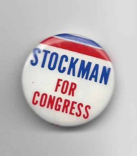 David Stockman Michigan (R) Congressman 1976-81 political pin button