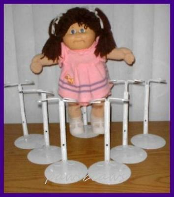 6 White Kaiser #2701 Doll Stands for CABBAGE PATCH KIDS
