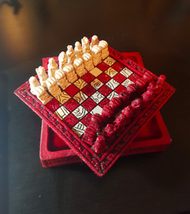 Vintage Hand Made Mayan Chess Set