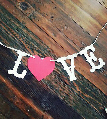 LOVE Banner Valentine's Day,Wedding,Save the Date Banner Photo Prop Rustic USA - Valentine Banner
