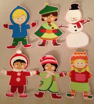 Kids of the World dressed for Winter - Iron On Fabric Appliques - Winter Crafts For Kids