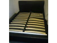 King-size leather bed