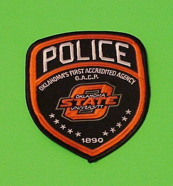 OKLAHOMA  STATE UNIVERSITY  1890  O.A.C.P.  POLICE DEPT. PATCH  FREE SHIPPING!!!