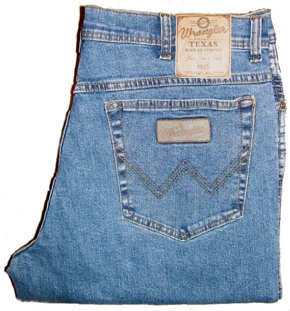 WRANGLER Jeans TEXAS STRETCH - 3.Wahl Ware ARBEITSHOSEN W 30 31 32 Restbestand