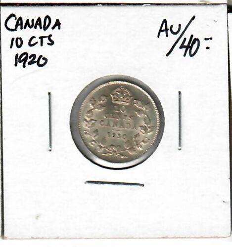 Canada 10 Cents 1920 AU