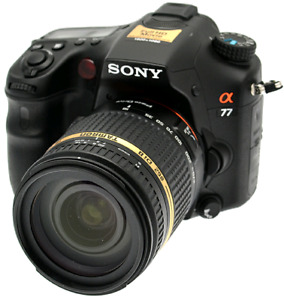 Sony a77 dslr camera with tamron 18-270mm piezo drive.