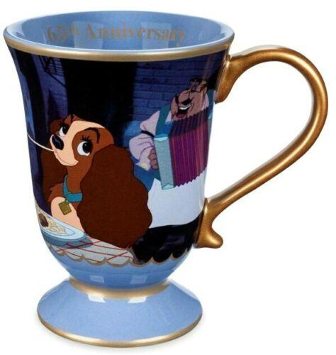 Disney Store LADY AND THE TRAMP 65th Anniversary Coffee Ceramic Mug AIR FAST