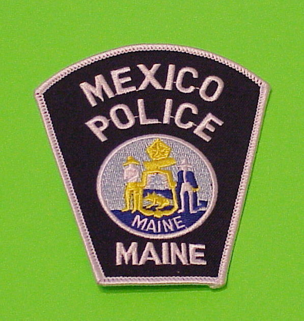 MEXICO  MAINE  ME  POLICE DEPT. PATCH  FREE SHIPPING!!!