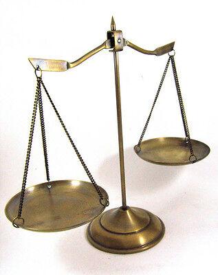 VINTAGE GOLDEN BRASS BALANCE SCALE LAWYER JUSTICE THAI CLASSIC DECORATION
