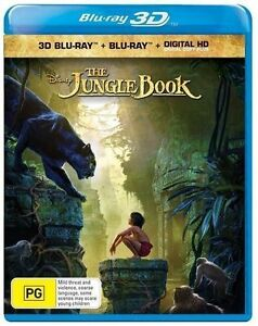 The Jungle Book 3D (2016, Disney) : NEW Blu-Ray 3-D