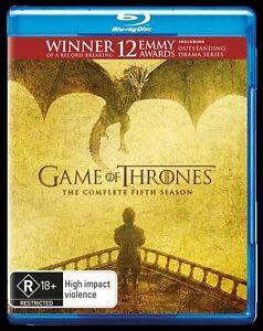 Game Of Thrones season 5 BLURAY. Brand new sealed