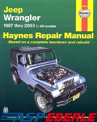 Reparaturanleitung Handbuch Jeep Wrangler YJ + TJ 87-03
