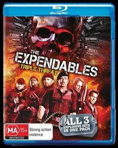 The Expendables 1, 2 & 3 Trilogy blu ray New RB Sylvester Stallone Jason Statham