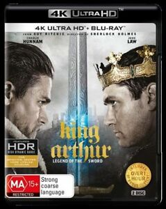 King Arthur Legend Of The Sword 4K Blu-Ray UHD UV NEW Region B