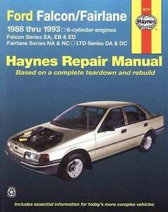 Ford Falcon EA, EB & ED (6 cyl) 1988 - 1993 Haynes Repair Manual Blacktown Blacktown Area Preview