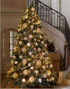7.5 FOOT CHRISTMAS TREE W/WHITE LIGHTS (NEW with box)