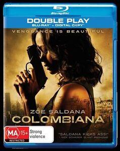 *New & Sealed* Colombiana (Blu-ray, 2-Disc Set) Zoe Saldana Action Movie. Reg B