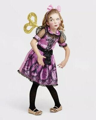 NEW Wind Up Doll Hyde & Eek Girls' Steampunk Halloween Costume Sz 7-8 Medium