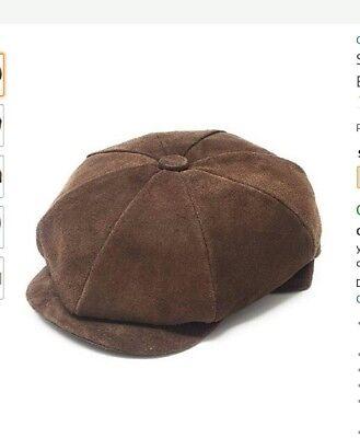 + Cotswold Country Hats Mens Pig skin flat grandad cap brown size S 55cm 5'2 Cotswold Cap