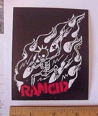 RANCID SKELETON BOMBS WITH FLAMES PEEL-OFF STICKER