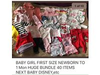 BABY GIRL CLOTHES FIRST SIZE NEWBORN UP TO 1 Month