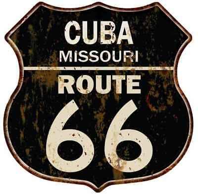 CUBA, MISSOURI Route 66 Shield Metal Sign Man Cave Garage 211110014090 - Cuba Sign