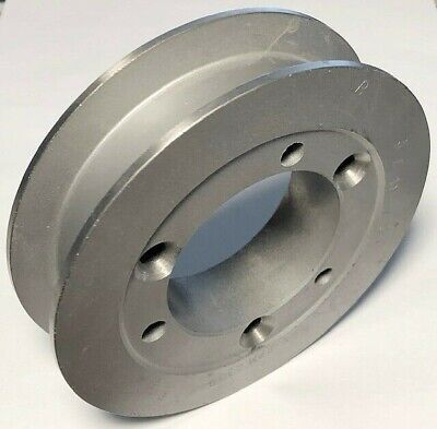 5.6 Flat Belt Sheave Pulley 1 Wide Groove Takes Sk Bushing New