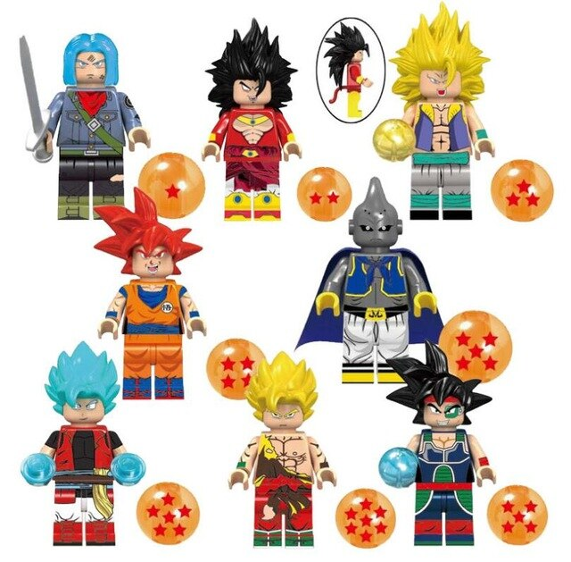 Count:8pcs-1:32pcs Dragon Ball Z Action Figure Super Goku Building Blocks For Lego Toy Heroes
