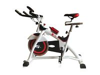 Sk sports spinning bike, heart rate monitor and water bottle holder, computer