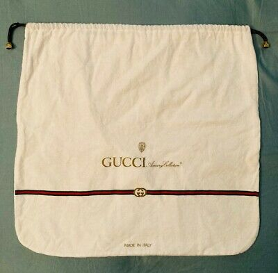 "VINTAGE: GUCCI DESIGNER ACCESSORY COLLECTION 16""x16"" DUST BAG / SLEEP BAG ITALY"