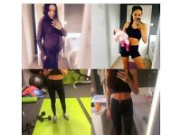 Sports partners workout diet healthy lifestyle body transformation pregnant